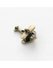 """Подвеска металлическая для скрапбукинга """"Самолет"""", 10х20 мм, цвет античная бронза, ScrapBerry's"""