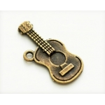 """Подвеска металлическая для скрапбукинга """"Гитара"""", 12х24 мм, цвет античная бронза, ScrapBerry's"""