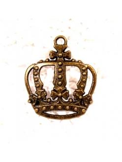 Подвеска для скрапбукинга Корона большая, античная бронза, ScrapBerry's