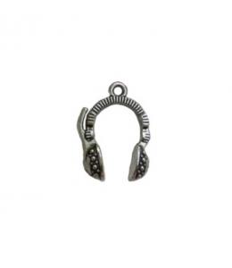 """Подвеска металлическая для скрапбукинга """"Наушники"""", 3D, 15х23 мм, цвет античное серебро, ScrapBerry's"""