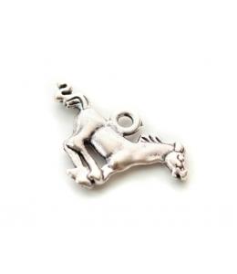 """Подвеска металлическая для скрапбукинга """"Лошадь"""", 3D, 18х27 мм, цвет античное серебро, ScrapBerry's"""