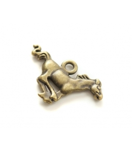 """Подвеска металлическая для скрапбукинга """"Лошадь"""", 3D, 18х27 мм, цвет античная бронза, ScrapBerry's"""
