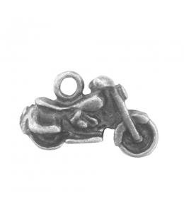 """Подвеска металлическая для скрапбукинга """"Мотоцикл"""", 3D, 10х17 мм, цвет античное серебро, ScrapBerry's"""