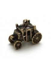 """Подвеска металлическая для скрапбукинга """"Карета"""", 3D, 18х22 мм, цвет античная бронза, ScrapBerry's"""