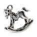 """Подвеска металлическая для скрапбукинга """"Лошадка-качалка"""", 3D, 18х15,4 мм, цвет античное серебро, ScrapBerry's"""