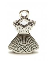 """Подвеска металлическая для скрапбукинга """"Платье на вешалке"""", 15х22 мм, цвет античное серебро, ScrapBerry's"""