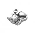 """Подвеска металлическая для скрапбукинга """"Котёнок"""", 13х14 мм, цвет античное серебро, ScrapBerry's"""