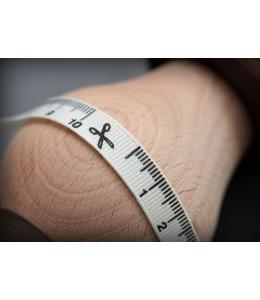 """Лента хлопковая принтованная """"Сантиметр на белом"""", 1х200 см, ScrapBerry's"""