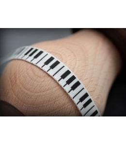 """Лента хлопковая принтованная """"Клавиши на белом"""", 1х200 см, ScrapBerry's"""