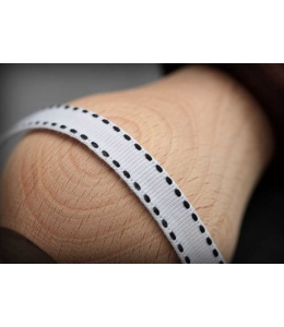 """Лента текстильная """"Белая со стежком"""", 1 см, длина 2 м, ScrapBerry's"""