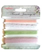 """Декоративные ленты, набор """"Французское путешествие"""", 4 шт. по 1 м, ScrapBerry's"""