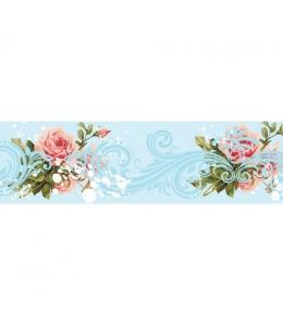 """Бумажный скотч с принтом """"Небесно-цветочные узоры"""", 15 мм, длина 8 м, ScrapBerry's"""