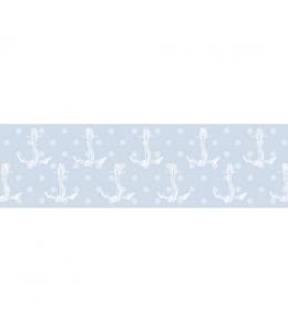 Бумажный скотч с принтом Морской принт, 15 мм, длина 8 м, ScrapBerry's