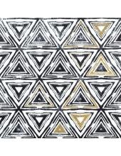 """Салфетка для декупажа """"Треугольники черные"""", 33х33 см, Германия"""