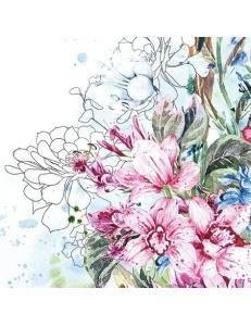 """Салфетка для декупажа """"Тропическая орхидея"""", 33х33 см, Германия"""