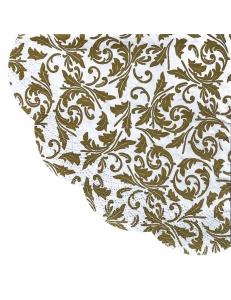 """Салфетка для декупажа круглая IHR-005955 """"Золотой орнамент"""", диаметр 32 см, Германия"""