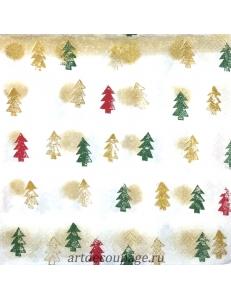 """Салфетка для декупажа IHR-102548 """"Рождественские ёлочки"""", 33х33 см, Германия"""