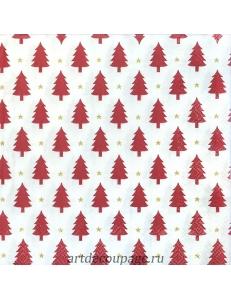 """Салфетка для декупажа IHR-102576 """"Красные ёлочки"""", 33х33 см, Германия"""