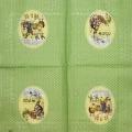 """Салфетка для декупажа IHR-201010 """"Пасхальные кролики"""", 33х33 см, Германия"""