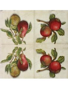 """Салфетка для декупажа IHR-201014 """"Яблоки и груши"""", 33х33 см, Германия"""