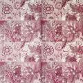 """Салфетка для декупажа IHR-201016 """"Цветочный розовый орнамент"""", 33х33 см, Германия"""