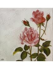 "Салфетка для декупажа IHR-201027 ""Роза на длинном стебле"", 33х33 см, Германия"