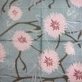 """Салфетка для декупажа IHR-201032 """"Розовые цветы на сером"""", 33х33 см, Германия"""