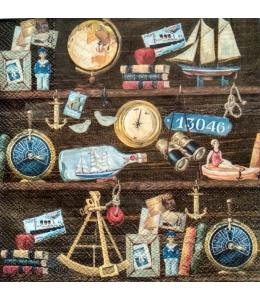 "Салфетка для декупажа IHR-201039 ""Морская коллекция"", 33х33 см, Германия"