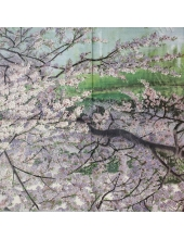 "Салфетка для декупажа IHR-201055 ""Цветущая вишня"", 33х33 см, Германия"