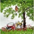 "Салфетка для декупажа IHR-201058 ""Праздник на природе"", 33х33 см, Германия"