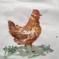 "Салфетка для декупажа IHR-201076 ""Курица"", 33х33 см, Германия"