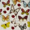"Салфетка для декупажа IHR-201092 ""Бабочки и божьи коровки"", 33х33 см, Германия"