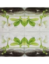 "Салфетка для декупажа IHR-201114 ""Орхидеи и камни"", 33х33 см, Германия"