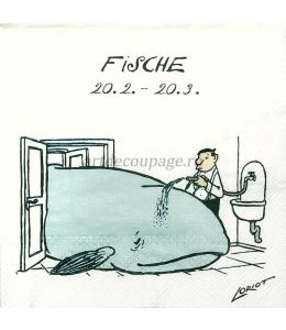 "Салфетка для декупажа IHR-201153 ""Знаки зодиака - Рыбы"", 33х33 см, Германия"
