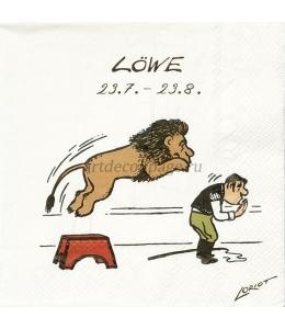 """Салфетка для декупажа IHR-201158 """"Знаки зодиака - Лев"""", 33х33 см, Германия"""