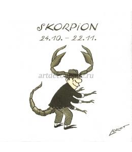 """Салфетка для декупажа IHR-201161 """"Знаки зодиака - Скорпион"""", 33х33 см, Германия"""