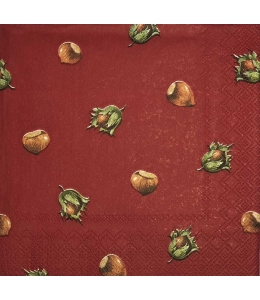 "Салфетка для декупажа IHR-201233 ""Лесной орех"", 33х33 см, Германия"