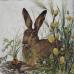 Салфетка для декупажа Кролик и морковь, 33х33 см, Германия