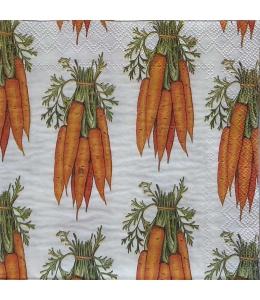 "Салфетка для декупажа IHR-201249 ""201249 ""Морковь"", 33х33 см, Германия"