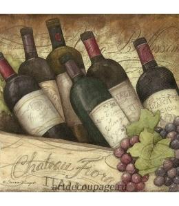 """Салфетка для декупажа IHR-201290 """"Итальянское вино"""", 33х33 см, Германия"""