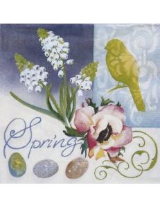 "Салфетка для декупажа IHR-201296 ""Весна"", 33х33 см, Германия"