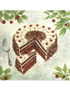 """Салфетка для декупажа IHR-201297 """"Торт"""", 33х33 см, Германия"""