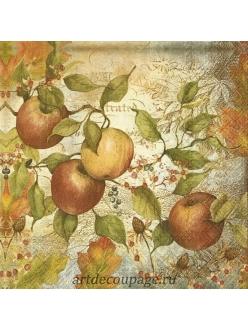 Салфетка для декупажа Спелые яблоки, 33х33 см, Германия
