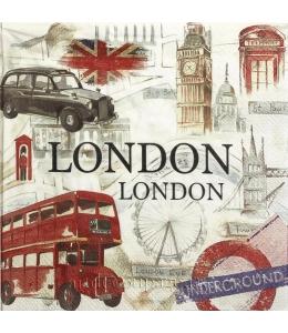 "Салфетка для декупажа IHR-201375 ""Лондон"", 33х33 см, Германия"