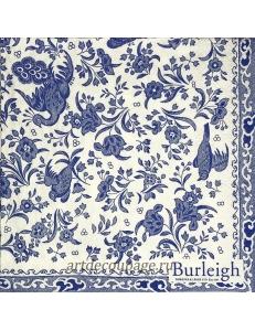 """Салфетка для декупажа IHR-201396 """"Синие птицы и цветы"""", 33х33 см, Германия"""