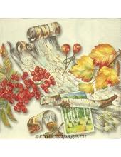 """Салфетка для декупажа IHR-201423 """"Осенний коллаж"""", 33х33 см, Германия"""