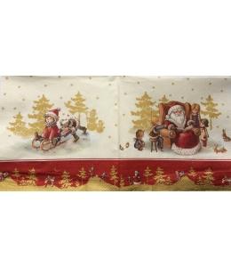 "Салфетка для декупажа IHR-095103 ""Дед Мороз и дети"", 33х33 см, Германия"