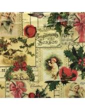 """Салфетка для декупажа IHR-102314 """" Время Рождества"""",  33х33 см, Германия"""