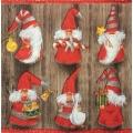 """Салфетка для декупажа IHR-102326 """"Рождественские гномики"""",  33х33 см, Германия"""