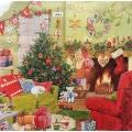 """Салфетка для декупажа IHR-102361 """"Рождественский интерьер"""",  33х33 см, Германия"""